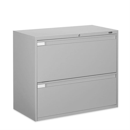 Fileworks® 9300 Plus Lateral Filing Cabinets 2 drawers grey