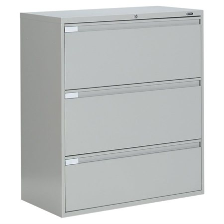 Fileworks® 9300 Plus Lateral Filing Cabinets 3 drawers grey