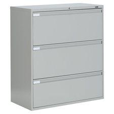 Classeurs latéraux Fileworks® 9300 Plus 3 tiroirs gris