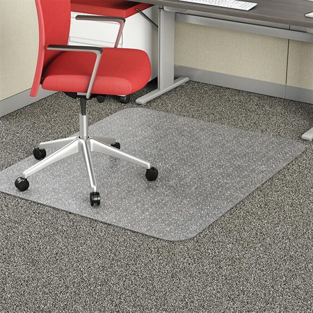 "EconoMat® Chairmat With lip 25 x 12"" 45 x 53"""