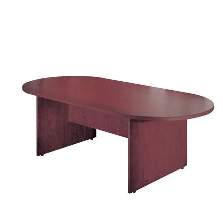 """Table de conférence ovale 120 x 48"""" acajou"""
