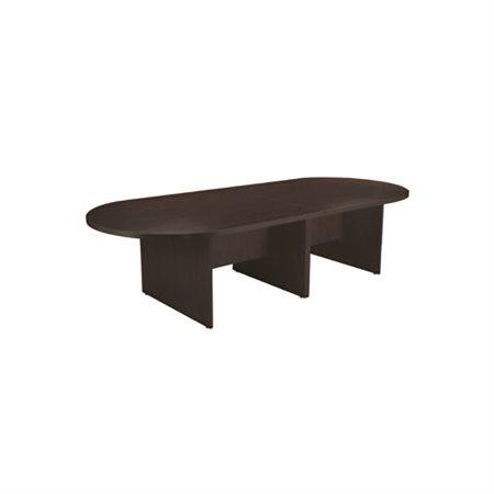 """Table de conférence ovale 120 x 48"""" espresso"""