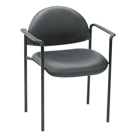 Chaises empilables à dossier bas Avec bras vinyle