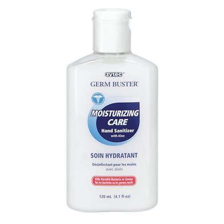 Désinfectant hydratant pour les mains avec aloès Germ Buster Capuchon rabattable 120 ml