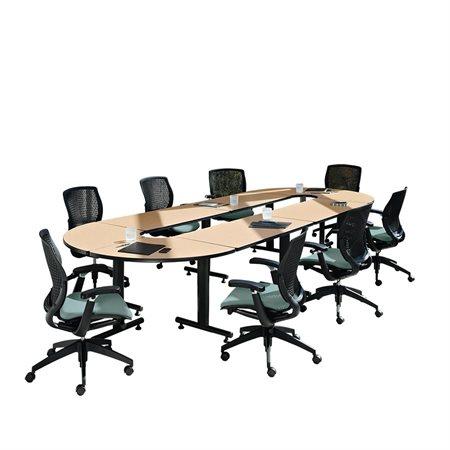 Table de conférence ovale Connectables cerisier avant
