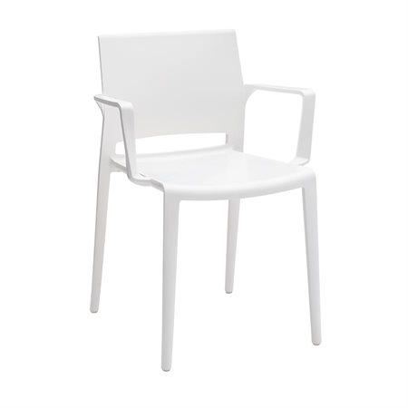 Chaise empilable Bakhita Avec bras blanc
