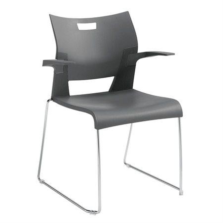 Chaise empilable Duet™ Avec Bras platine