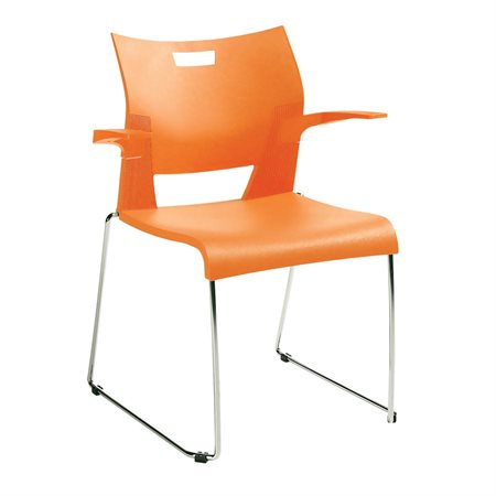 Chaise empilable Duet™ Avec Bras orange