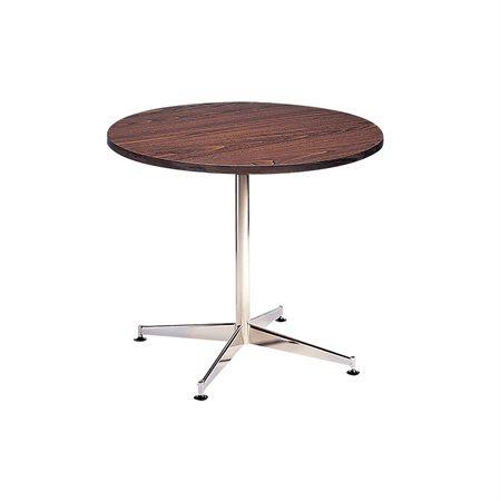 """Table de cafétéria ronde 30"""" diamètre noyer"""