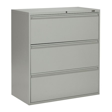 "MVL1900 series lateral file 3 drawers – 39.06""H grey"