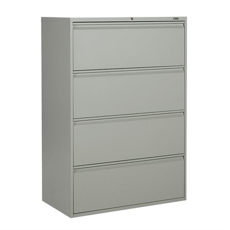 "Classeur latéral série MVL1900 4 tiroirs – 52,06""H gris"