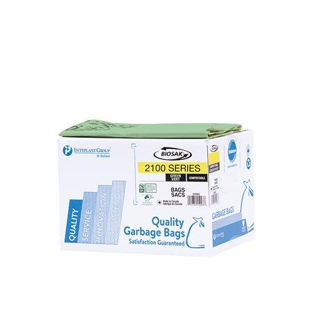 Biosak® 2100 Series Biodegradable and Compostable Garbage Bags