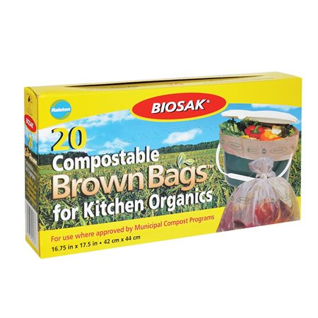 Sacs à ordures biodégradables compostables Biosak®