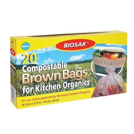 Sacs à ordures 100% compostables Biosak®