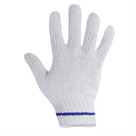 Gants de tricot en polycoton grand, surjet blanc