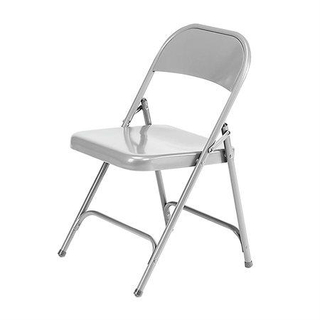 Chaise pliante en acier argent
