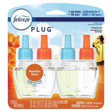 Recharge d'huile parfumée Febreze 2 Recharges aloha hawaïen