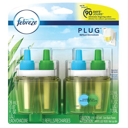 Recharge d'huile parfumée Febreze 2 Recharges pluie des prés / pluie vivifiante