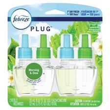 Recharge d'huile parfumée Febreze 2 Recharges pluie des prés/pluie vivifiante