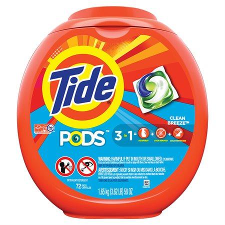 Tide Pods® Laundry Detergent Packs Package of 72 Ocean Mist™