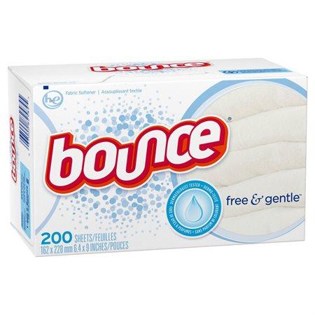Feuilles assouplissantes pour la sécheuse Bounce® Free & Gentle™