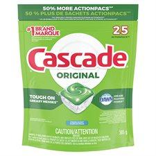 Détergent lave-vaiselle Cascade 2-in-1 Action Pacs® Paquet de 25 parfum frais