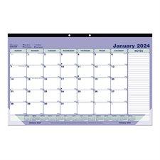 Calendrier sous-main mensuel (2021) 17-3/4 x 10-7/8 po anglais