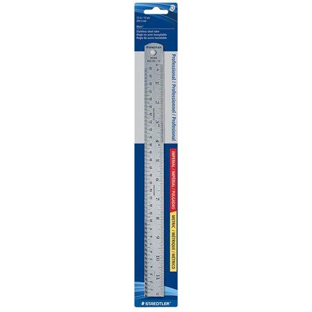 Steel Ruler 300 mm metric / 12 in.