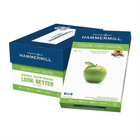 Papier Hammermill Color Copy Digital 32 lb. Paquet de 500. 11 x 17