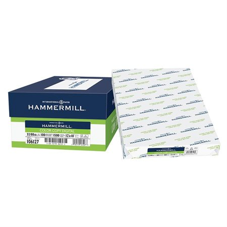 Papier Hammermill Color Copy Digital 32 lb. Paquet de 500. 12 x 18