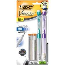 Portemines Velocity™ Paquet de 2 portemines avec 5 gommes à effacer et 0.7 mm