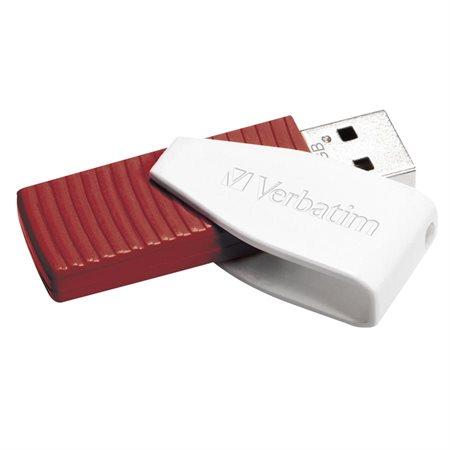 Clé USB pivotante à mémoire flash 16 Go rouge