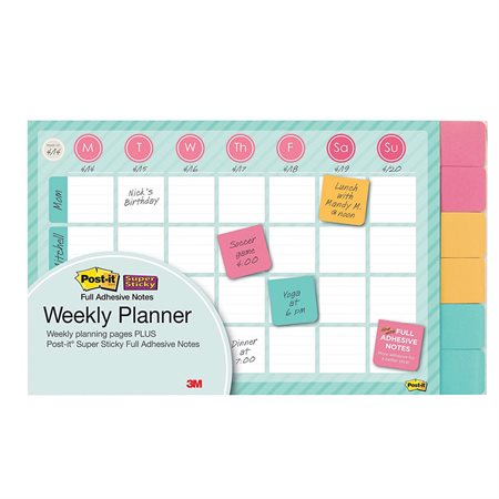 Calendrier hebdomadaire mural Post-it®
