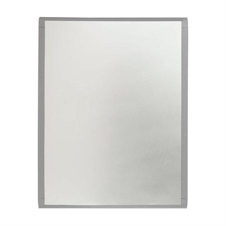 Tableau blanc magnétique effaçable à sec Cadre en argent 8,5 x 11 po.