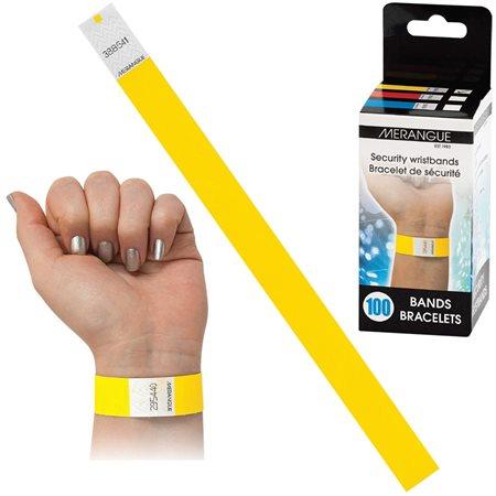 Bracelet d'identification jaune