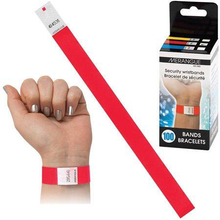 Bracelet d'identification rouge