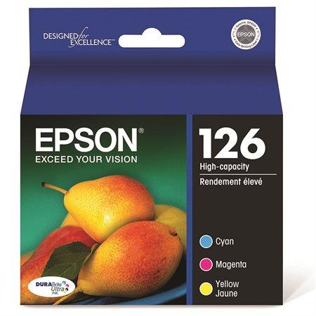 Cartouche d'encre couleurs Epson #126 à haut rendement