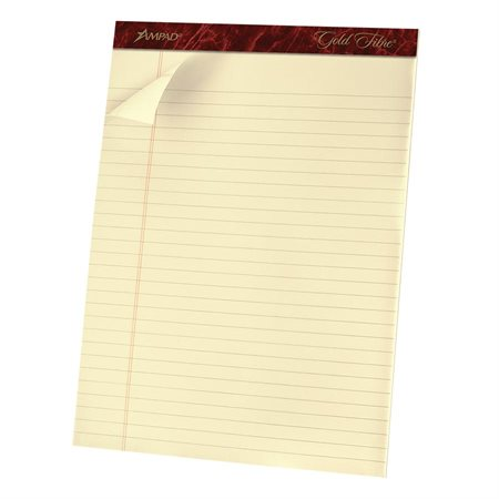 Gold Fibre™ Ivory Perforated Writing Pad
