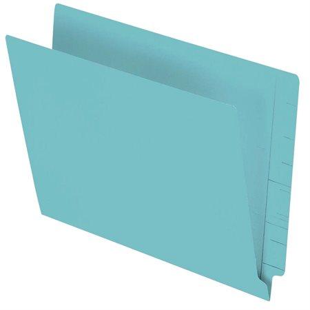 Chemise à dossier à onglet latéral 11 pts. Format lettre, boîte de 100 turquoise