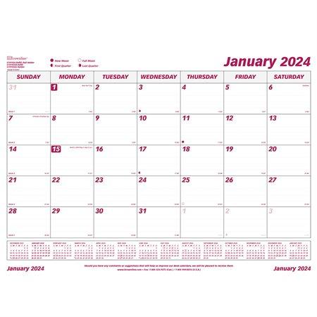 Recharge pour calendrier de bureau mensuel (2021)
