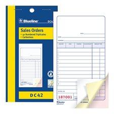 Formulaires de vente 3-1/2 x 6-1/2 po. triplicata (anglais)