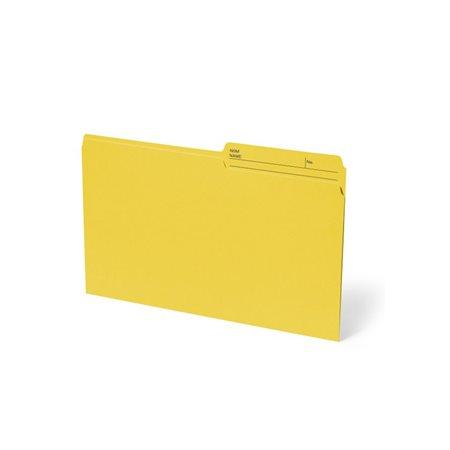 Chemise à dossier réversible Format légal jaune