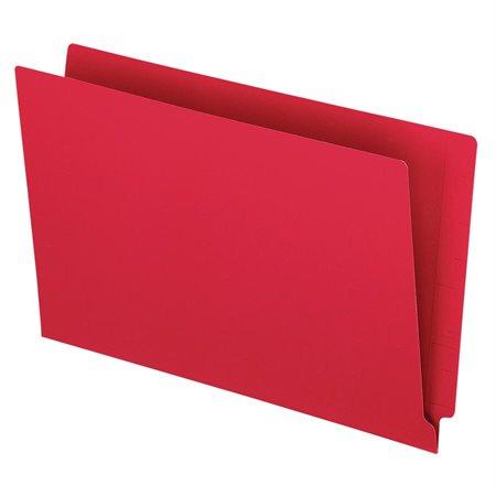 Chemise à dossier à onglet latéral rouge