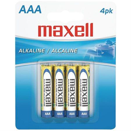 Piles alcalines Maxell 4 x AAA