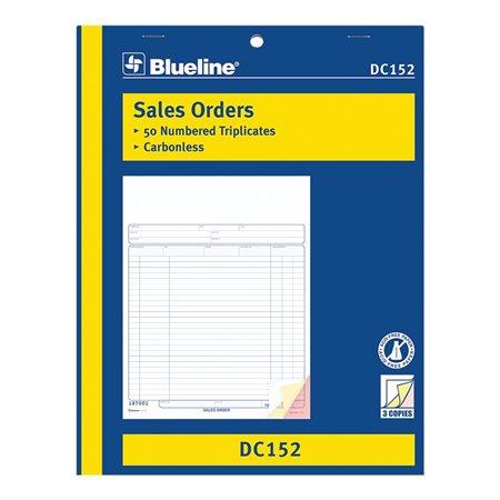 Formulaires de vente 8-1 / 2 x 11 po. triplicata (anglais)