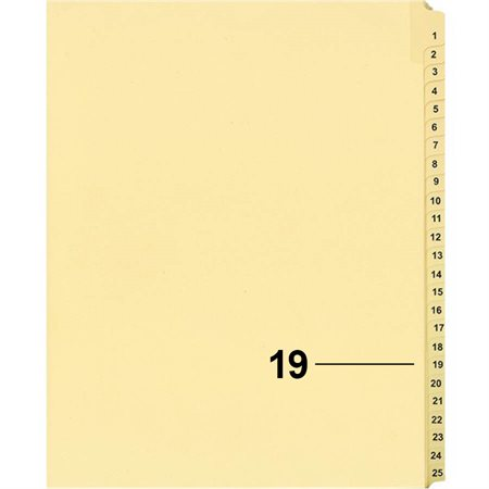 Offix® Individual Numerical Litigation Index Dividers