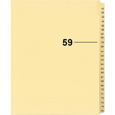 Offix® Individual Numerical Litigation Index Dividers