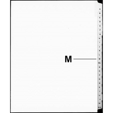 Offix® Alphabetical Litigation Index Dividers