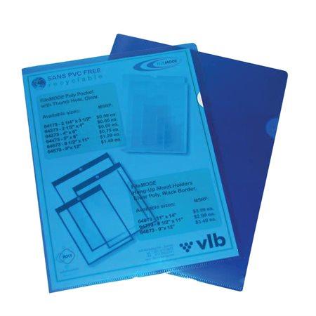 Pochettes protectrices 12 x 9-5 / 8 po bleu