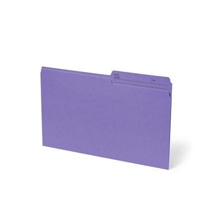 Chemise à dossier réversible Format légal violet